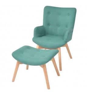 vidaXL Mueble de lavabo con espejo  madera de mango maciza