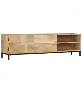 vidaXL Mesa de bar de madera maciza reciclada multicolor 150x60x107 cm