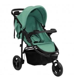 vidaXL Taburete de masaje plegable 12 cm de grosor y 2 cojines negro