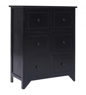 vidaXL Conjunto de muebles de baño y lavabo 9 piezas negro