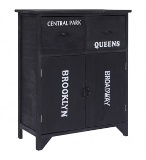 vidaXL Conjunto de muebles de baño y lavabo 8 piezas negro