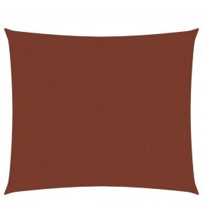 vidaXL Alfombra de retazos de cuero 160x230 cm chevrón marrón/blanco