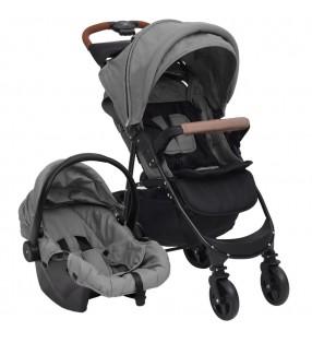 vidaXL Silla de peluquería de cuero sintético roja