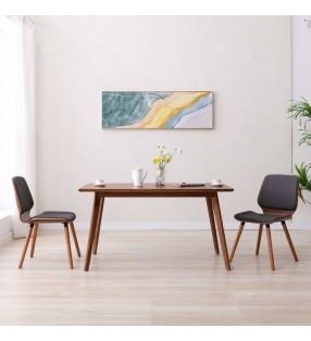 vidaXL Set de mesa y sillas bistró de jardín 3 piezas plástico blanco