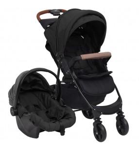 vidaXL Silla de peluquería cuero sintético negra