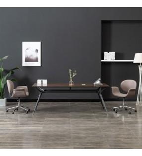 vidaXL Set de mesa y sillas de jardín 3 piezas plástico gris antracita