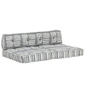 vidaXL Conjunto de sofá modular 12 piezas tela de rayas