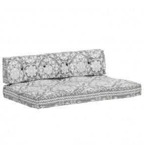 vidaXL Conjunto de sofá modular 14 piezas tela de rayas