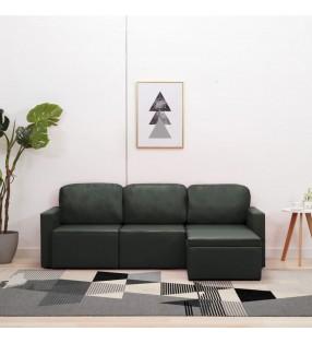 vidaXL Comedor de jardín 3 pzas con gaviones de acero y madera de pino