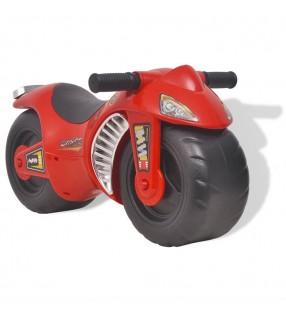 vidaXL correpasillos motocicleta de plástico de color rojo
