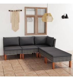 vidaXL Set mesa alta y taburetes de bar 3 piezas cuero sintético negro