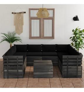 vidaXL Lámpara de focos con 6 luces negro y cobre E27 30 cm