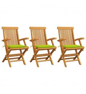 vidaXL Pizarras 3 unidades madera maciza de teca 30x70 cm