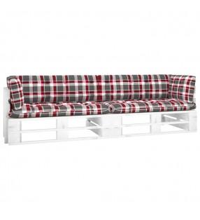 vidaXL Mesa de centro de vidrio templado blanco mármol 50x50x45 cm