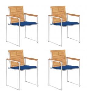 Esschert Design Batería de cocina 4 piezas para exterior negra FF215