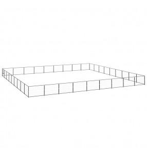vidaXL Valla de jardín de listones 10 piezas madera 140 cm
