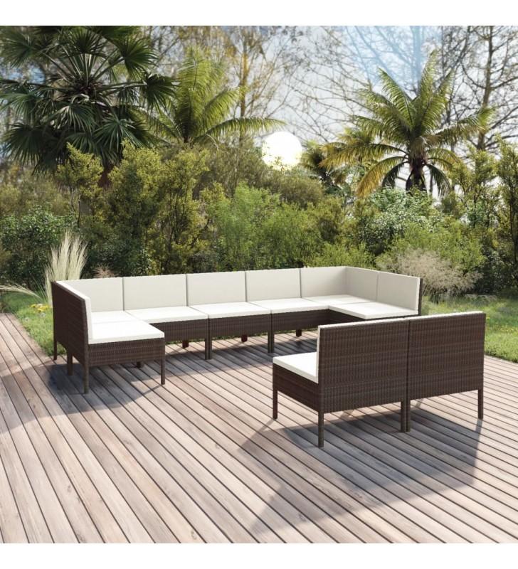 vidaXL Set de comedor de jardín 9 pzas madera maciza de acacia y acero