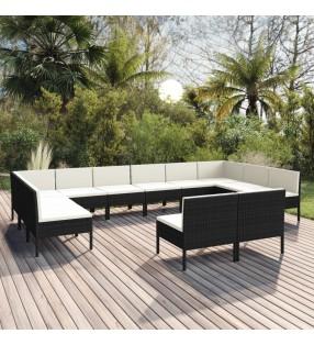 vidaXL Cobertizo contenedor de basura poli ratán marrón 76x78x120 cm