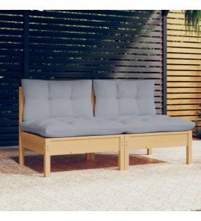 vidaXL Otomana de jardín de palés de madera verde