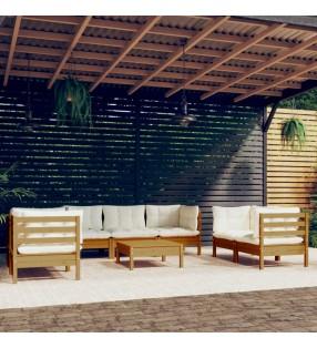 vidaXL Casa de juegos de jardín de madera de pino 123x120x146 cm