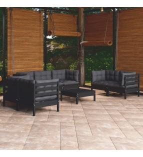 vidaXL Casa de juegos de jardín de madera de pino 122,5x160x163 cm