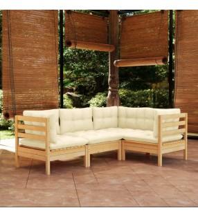 vidaXL Banco balancín madera de teca maciza marrón 120x60x57,5 cm