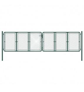 vidaXL Valla de jardín de acero galvanizado 50 m 100 cm