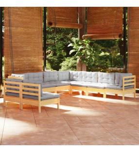 vidaXL Mesa de jardinera madera de pino impregnada 75x40x90 cm