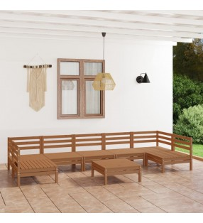 vidaXL Cobertizo doble para basura madera de pino y mimbre