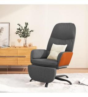 vidaXL Caja de almacenamiento 320 L gris y negro