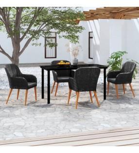 vidaXL Reloj radiocontrol de pared cuarzo blanco y negro 31 cm