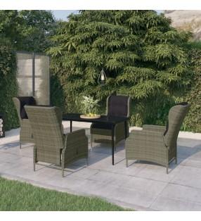 vidaXL Juego de sartenes 5 piezas aluminio rojo