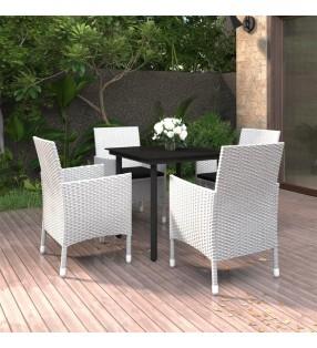 vidaXL Tarros de mermelada de vidrio tapa blanca y roja 48 uds 400 ml