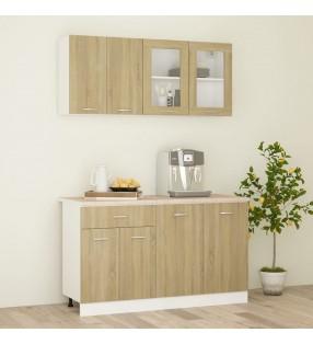 vidaXL Armario de lavadora aglomerado negro 64x25,5x190 cm