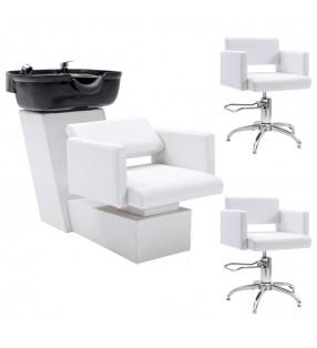 vidaXL Armario de lavadora de aglomerado gris brillante 64x25,5x190 cm