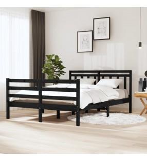 vidaXL Estantería de libros/mueble TV aglomerado negro 36x30x114 cm