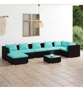 vidaXL Juego de maletas de viaje 5 piezas negro