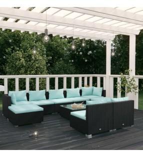 """Set de montura de caballo de 17.5"""" y cuero negro 18 cm, 5 en 1"""