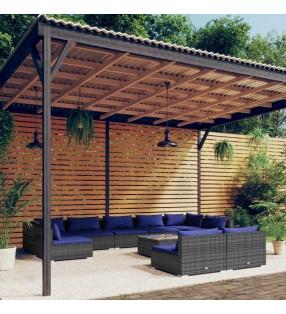 vidaXL Juego de croquet de madera para 4 jugadores
