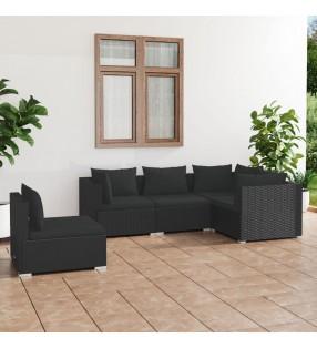 vidaXL Juego de 3 maletas negras