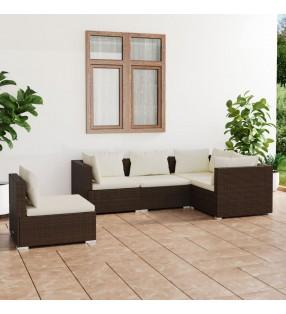 vidaXL Juego de 3 maletas color café