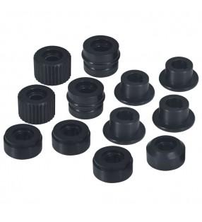 vidaXL Plato de ducha rectangular ABS negro 80x90 cm