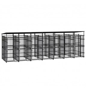 vidaXL Maletín trolley de maquillaje aluminio negro 35x29x45 cm