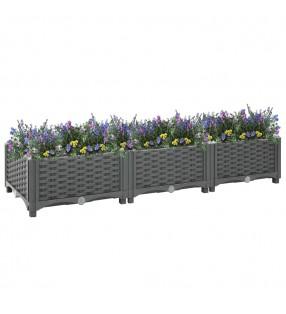 vidaXL Láminas autoadhesivas muebles PVC gris 500x90 cm