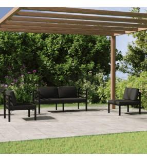 vidaXL Escritorio esquinero de aglomerado negro 200x50x76 cm