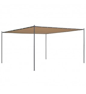 vidaXL Lona de salto para cama elástica redonda tela negro 3,66 m
