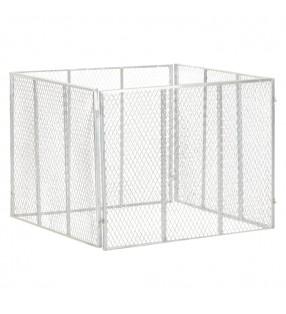 vidaXL Perrera de exterior con techo 8x2x2,4 m