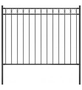 vidaXL Carro de soldar con 4 cajones negro