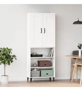 vidaXL Escritorio de esquina de aglomerado blanco 145x100x76 cm