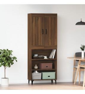 vidaXL Escritorio de esquina aglomerado blanco brillo 145x100x76 cm